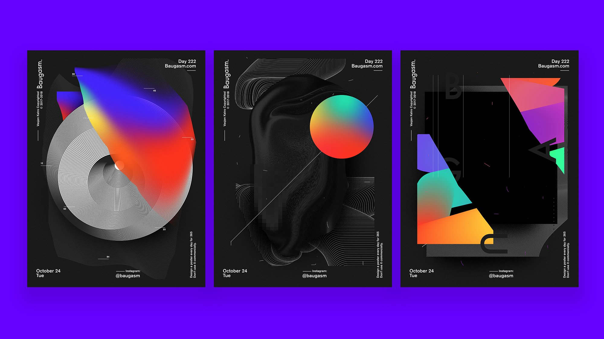 Baugasm™ Series #9 - Design 3 Different Abstract Posters in