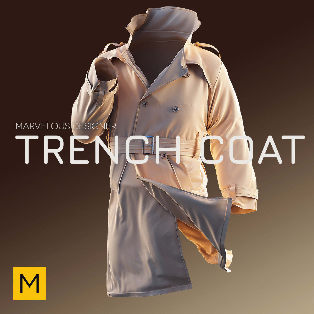 Creating A Trench Coat Using Marvelous Designer And Zbrush Premium Courses Online