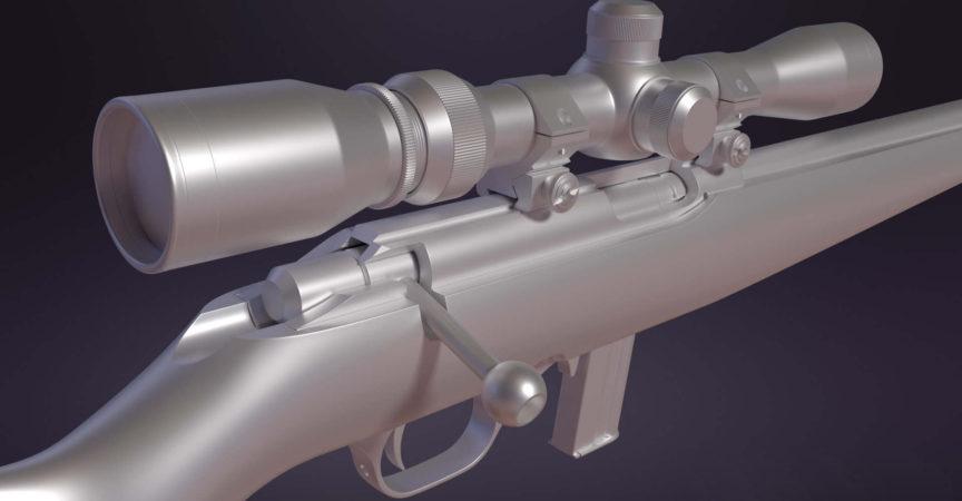 Hard Surface Gun Modeling in Blender - Premium Courses Online
