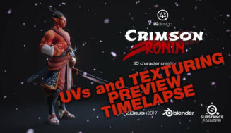 Crimson Ronin – PBR Character Creation for Games